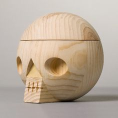 """""""Kranium"""" wooden skull with secret compartment, from Acne Jr."""