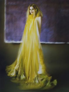 LiliRoze's photo shoot for the couturier Maurizio Galante. Color Photography, Fashion Photography, Frou Frou, Mellow Yellow, Color Yellow, Yellow Fashion, Orange And Purple, Vintage Love, Yellow Dress