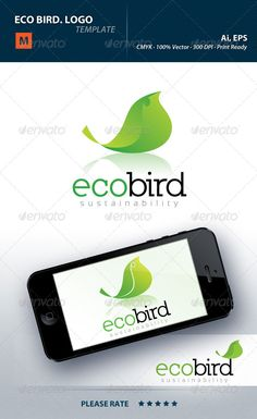Eco Bird Logo — Vector EPS #planet #profit • Available here → https://graphicriver.net/item/eco-bird-logo/4590557?ref=pxcr