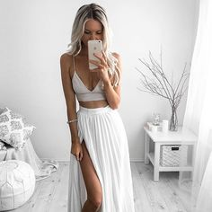Skirt + Crop Top