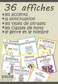 Browse over 40 educational resources created by Valise du prof in the official Teachers Pay Teachers store. Core French, French Class, French Lessons, Les Accents, French Resources, Visual Aids, French Immersion, Teaching French, France