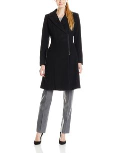 T Tahari Womens Juno Wool Trench Coat Charcoal Melange Medium * Learn more by visiting the image link. (This is an affiliate link) #womenscoatsjacketsvests