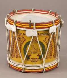 Battalion The Gloucestershire Regiment. War Drums, Drums Art, British Army Uniform, British Uniforms, Tambour, Instruments, English Cottage Style, Age Of Empires, How To Play Drums
