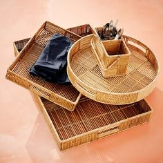 rattan woven trays - YES please!