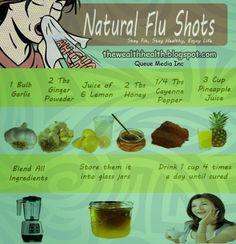 Natural Flu Shots Recipe