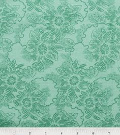 Stonehill Collection Fabric-Outline Floral Splurge Green, , hi-res