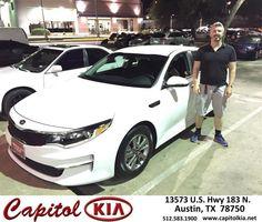 https://flic.kr/p/GSa7Es | Congratulations Jance on your #Kia #Optima from Brian Dean at Capitol Kia! | deliverymaxx.com/DealerReviews.aspx?DealerCode=RXQC