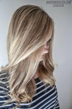 Platinum blond on long hair at Kruczek Hair Concept