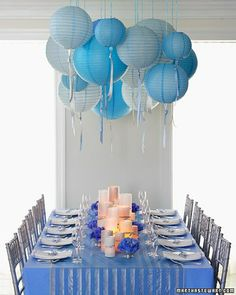 Martha Stewart Weddings - Bridal Shower Theme: Something Blue