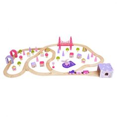 Girls Fairy Town Train Set - CUTE!!  Not many girl options out there when it comes to train sets.