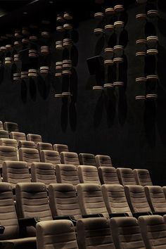 With the advancement of technology, movie screening in cinemas hasbeen digitalized, piles of film reels are no longer stacked up in screeningrooms. Wuhan, Interior Design Awards, Cinema Theatre, Sky Design, Home Cinemas, Creative Inspiration, Aesthetic Pictures, Interior Architecture, Cinema