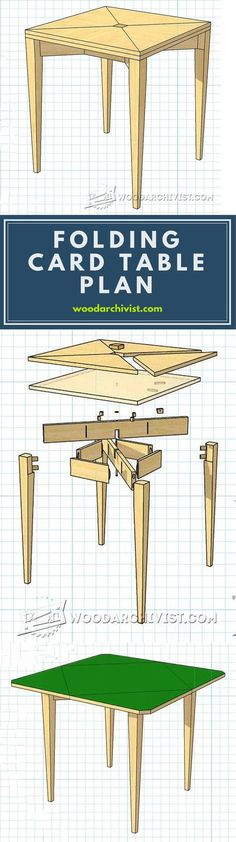 Folding Card Table Plans - Furniture Plans and Projects | WoodArchivist.com
