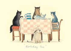 IA33 BIRTHDAY TEA by Alison Friend - A Two Bad Mice Greeting Card