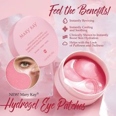 Hydrogel Eye Patches These patches give your eyes the wakeup they need! You can use them twice a week for 20 min or just anytime you feel you need it! You will absolutely fall in love Mary Kay Makeup Mary Kay Ash, Mary Mary, Mary Kay Party, Mary Kay Cosmetics, Hair Removal, Cremas Mary Kay, Maquillage Mary Kay, Mk Men, Selling Mary Kay