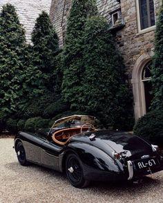Old Vintage Cars, Old Cars, Antique Cars, Vintage Sports Cars, Jaguar Xk120, Dream Cars, My Dream Car, Pretty Cars, Cute Cars