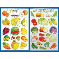 Buy Fruit & Vegetable Floor Puzzle Special Offer from our Puzzles and Games range - @ Early Years Resources