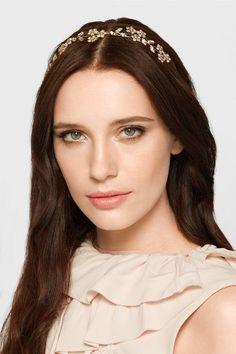 Jennifer Behr - Violet Bandeaux gold-tone crystal headband