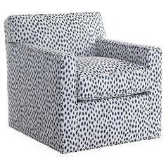 Kelton Swivel Chair, Navy Spot Sunbrella $1,495.00
