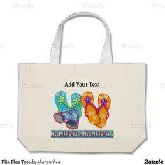 Flip Flop Tote - http://www.zazzle.com/flip_flop_tote-149334239246011522