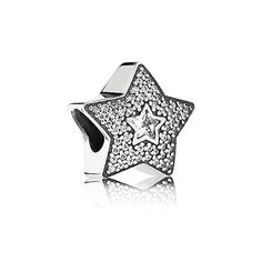 When you wish upon a shooting star all your dreams may come true - fulfill the dreams of your special someone by gifting her with the meaningful and innovative micro-set pavé star. $75 #PANDORA #PANDORAcharm