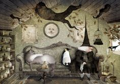 """""""For some illustrations by Basque artist Iban Barrenetxea based on fairy tales and fantasy"""" Art Magique, Season Of The Witch, Witch Art, Halloween Art, Halloween Witches, Happy Halloween, Children's Book Illustration, Fantasy Art, Fantasy Witch"""