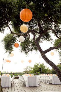 orange and gold paper lanterns