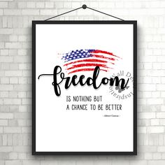 Freedom 4th of July  Independence day  Red blue White. Check more #digitalprint #walldecor #artprint themed at my #etsy store:  www.etsy.com/shop/InspirationWallDecor