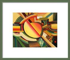Everything Between Orange And Green Framed Print By Monika Pagenkopf