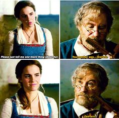I love how her dad seemed to get Belle in this!  None of this hopping on the Gaston train nonsense.