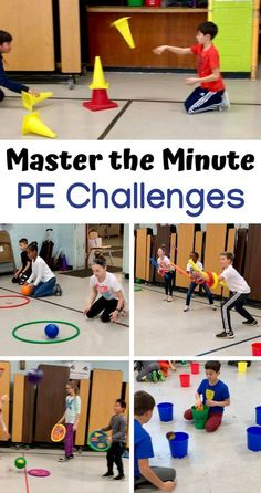 My name is Lindsay Karp, I teach physical education and health at Bret Harte Elementary and A. Russell Knight Elementary in Cherry Hill, NJ. Master the Minute Challenges are fun, team orientated, and focused on a variety of skills. I … Read Physical Education Activities, Elementary Physical Education, Pe Activities, Team Building Activities, Preschool Games, Educational Activities, Educational Software, Pe Games For Kindergarten, Inclusive Education