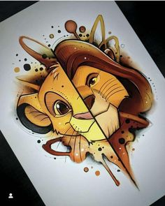 Tattoo sketches 594404850802919179 - Tattoo disney lion king fan art Best ideas Source by Art Drawings Sketches, Cartoon Drawings, Cute Drawings, Tattoo Sketches, Amazing Drawings, Drawing Faces, Easy Sketches To Draw, Pencil Drawings, Drawing Cartoon Characters