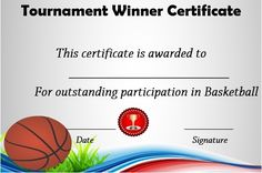 basketball tournament winner certificate Basketball Awards, Free Basketball, Christmas Gift Certificate Template, Birth Certificate Template, Education Certificate, Looking For Employees, Graduation Templates, Unique Graduation Gifts