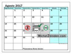 Calendário para imprimir agosto 2017 - Laurentia
