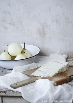 Fried Pears with Pear Gorgonzola Icecream