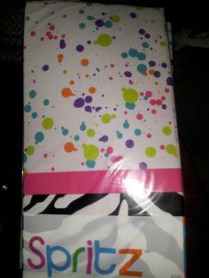 Spot Splatter Splash tablecloths :) from target birthday dance party. Barn Dance Party, Birthday Ideas, Birthday Parties, Party Central, Tablecloths, Target, Party Ideas, Anniversary Parties, Table Toppers