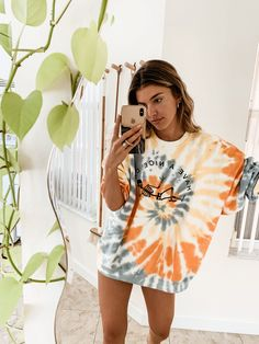 best seller makemechic women s boho casual maxi short sleeve split tie dye long dress pockets online Teenage Outfits, Teen Fashion Outfits, Girl Outfits, Fashion Jobs, Tomboy Outfits, Fashion Websites, Cute Comfy Outfits, Cute Summer Outfits, Summertime Outfits