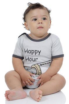 E quem disse que as crianças não curtem um Happy Hour? Bodie Suedine 100% Algodão.