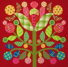 Block pattern by Kim McLean, block seen on bemused.typepad.com.