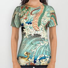 Buy Dragon King All Over Print Shirt by artysmedia. Worldwide shipping available at Society6.com. Just one of millions of high quality products available.