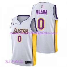 1720615685c Los Angeles Lakers NBA Trikot Kinder 2018-19 Kyle Kuzma 0# Association Edition  Basketball Trikots Swingman