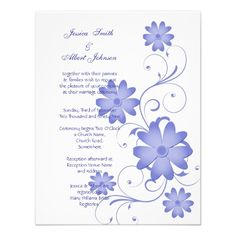 Blue Paper Flower Vector Greeting Card Template  Seasons