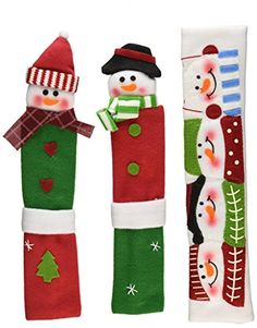 Snowman Kitchen Appliance Handle Covers Set of 3 Dress Up Your Refrigerator Handles Oven Microwave or Faucet Get Ready for Your Christmas Decorations >>> More home décor info could be found at the image url. Christmas Lights, Christmas Holidays, Christmas Trees, Reindeer, Snowman, Fridge Decor, Ideas Para Organizar, All The Way Down, Mistletoe