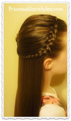 Feather braid headband and rosette hairstyle tutorial