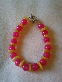 Bubble gum button bracelet by CRAZYBUTTONDESIGNS13 on Etsy, $4.00