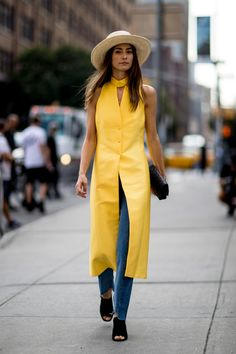 On the street at NYFW. Photo: Imaxtree.