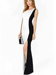 New Arrival Sleeveless Elastic Slim Maxi Dress