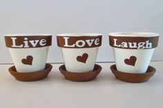 LIVE LOVE LAUGH Hand Painted Clay by HomeDecorAndCeramics, $17.00