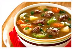 Savory Vegetable and Beef Stew Serves: 6  INGREDIENTS 1/2 cup all-purpose flour 1 pound beef chuck roast, cut into 1-inch cubes 3 tablespoons vegetable oil, divided 1 large turnip, peeled and cut into 1-inch chunks 3 medium stalks of celery, sliced 1-inch thick on the diagonal 5 medium carrots, p