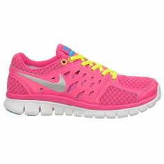 Nike Women's FLEX RUN 2013 at Famous Footwear Katy wanted me to have happy  feet and picked out pink shoes so we would