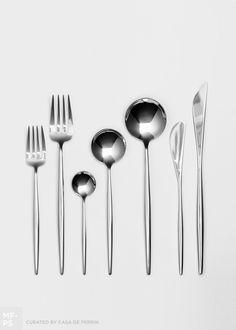 Moon Flatware | Polished Steel [Casa de Perrin]